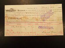 1888 Custer Forwarding Co. vignette invoice