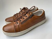 BORN Tamara Cognac Leather Lace Sneakers Shoes US 9.5 M