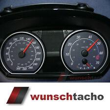 """Tachoscheibe für Tacho BMW 1er E81 E82 E87 E88 """"Carbon"""" 310 Km/h"""