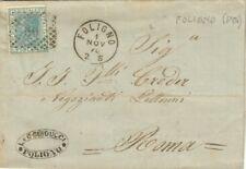 Z22559-UMBRIA, FOLIGNO, NUMERALE A PUNTI PER ROMA, DITTA GUIDUCCI, 1870