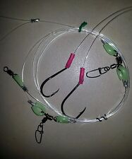 TWO HOOK RIGS ULTIMATE II 100LB TWO DROPPERS & LUMO 6/0 BEAK & 7/0 CIRCLE