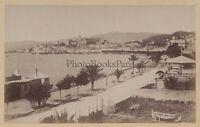 Cannes Boulevard Da La Croisette Francia Stampa Albume D'Uovo Vintage Ca 1875