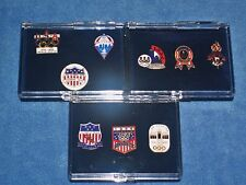 Lot of 9 Olympic Games Lapel Pins (3 Sets)