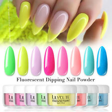 Lilycute 5g Efecto Neón Fluorescente inmersión en polvo de uñas larga duración para decorar uñas