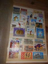 Album - Seite voll mit alten Briefmarken Motiv Olympiade Olympia