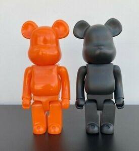 bearbrick 400% 28CM Toy Ornament Figure Home Statue UK Seller(Black & orange)SET
