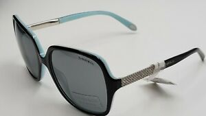 Genuine Designer Tiffany & Co. Black Blue Grey Sunglasses Glasses