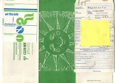 Club Med Ticket Envelope w/ Air Florida  Charted Ticket & Baggage Check 1982