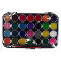 28 Watercolour Paint Set Brush Case Painting Water Colour Art Artist Pallet Kit