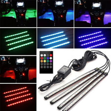 4x 18 LED RGB USB Car Interior Lights Kit Sound Active Multi-color Ambient Lamp