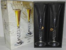 Champagne Flute Glass Set Millennium 2001 Lead Crystal by Cristal D Arques