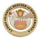 Ladies Oriental Shriner of North America Masonic Auto Emblem - [3'' Diameter]