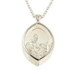 "Deb Guyot Herkimer ""Diamond"" Quartz Floating Pendant 30"" Necklace"