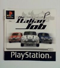 INSTRUCTIONS ONLY The Italian Job Manual  PS1 PSOne Playstation
