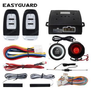 EASYGUARD PKE car alarm system keyless entry remote auto start push button stop