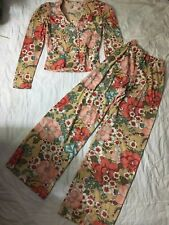 Vintage 1970s Hippy BoHo Flowered Pant And Top. Size S.
