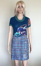 NWT €104 AU$154 DESIGUAL Originals Blue Gaultier Dress Sz XS, AU 6-8