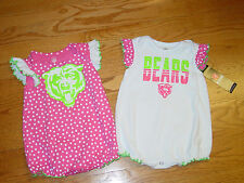 New 2 Pink 6/9 MO NFL Chicago Bears Football Creepers Bodysuit Infant Baby CUTE!