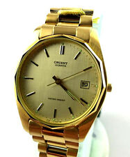 OROLOGIO Orient C779L6 classic WATCH GOLD DATA WATER RESISTENT RELOJ NEW VINTAGE