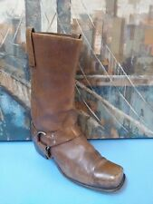Mens Biltrite Brown Leather Riding/motorcycle Harness Boots. Vintage Size 9 D.