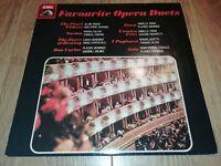 VARIOUS * FAVOURITE OPERA DUETS * HMV VINYL LP EXCELLENT ASD 3908 ( 1980 )