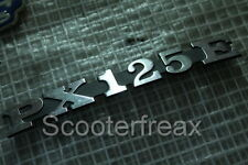 Vespa PX 125 E Emblema usado Cubierta Letras Dibujo Placa PX125E