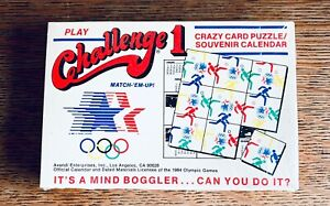 1984 Los Angeles Olympics ~ Challenge 1 Puzzle ~ Match-'Em-Up! ~ SEALED BOX