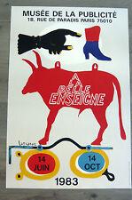 LAGRANGE Jacques Affiche LITHO 1983 A LA BELLE ENSEIGNE RÉBUS TAUREAU PUBLICITÉ