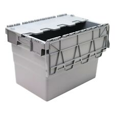 74L Heavy Duty Industrial Plastic Storage Distribution Box Boxes & Attached Lids