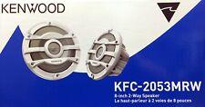"""NEW KENWOOD KFC-2053MRW  8"""" 2-Way Marine Audio Speakers (White)"""