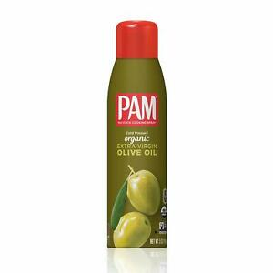 PAM Cold Pressed Organic Extra Virgin Olive Oil No-Stick Cooking Spray (1-5 OZ )