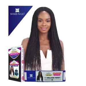 Freetress Equal Synthetic Hair Long Braided / Twisted Lace Wig - Million Twist