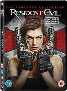 """RESIDENT EVIL 1-6 COMPLETE MOVIE COLLECTION DVD BOX SET 6 DISC """"NEW&SEALED"""""""