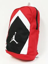 NWT NIKE JORDAN Men's Jumpman Diamond Red Black Bred Laptop Large Backpack Bag