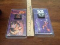 WCW The Giant & NWO Macho Man Pin And Card Set Sealed New 1997 Wrestling Nip