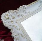 Espejo de pared ORO BLANCO 96x57 Antiguo Barroco Rococó Ostentoso Retro Shabby