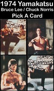 PICK A CARD 1974 Yamakatsu BRUCE LEE / CHUCK NORRIS Dragon Japanese ブルース・リー 李小龍