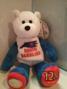 Collectible Limited Treasures Plush Coin Bear North Carolina State Quarter Kg Z3