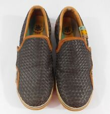 L.A.M.B. Royal Elastics Basket Weave Sneakers Brown Men's US 8 UK 7