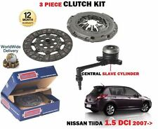 FOR NISSAN TIIDA 1461cc K9K 1.5 DCI 2007->NEW CLUTCH KIT WITH SLAVE CYLINDER