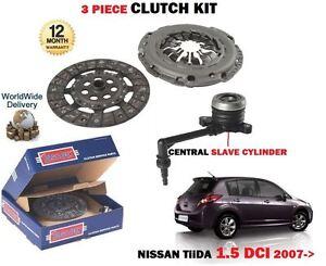 FOR NISSAN TIIDA 1461cc K9K 1.5 DCI 2007->NEW CLUTCH KIT WITH SLAVE CYLINDER