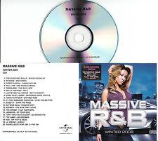 MASSIVE R&B Winter 2008 UK 40-trk promo test 2CD Hed Kandi