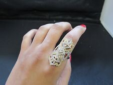 Indian Artificial Jewellery Ring Gold And Silver Formal Ethnic Adjustable
