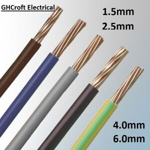 SINGLE CORE ELECTRICAL CONDUIT CABLE  6491X 1.5 / 2.5 / 4 / 6mm  -  MULTI BUY