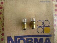 2 lampes témoins Tube neuves NORMA 6v 4w  BA9S Réf:1521 Citroên 2ch et autres