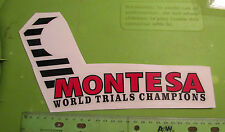 Montesa Cota 348 349 51m Nos World Ensayos Pegatina P/N 51.20.447 Or 5120.447