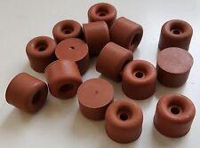 16 x Gerätefuß Gerätefüße Türpuffer Universalpuffer Hartgummi Rot Ø 30mm