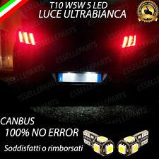 COPPIA LUCI TARGA 5 LED PEUGEOT 508 T10 W5W CANBUS NUOVO MODELLO NO ERROR