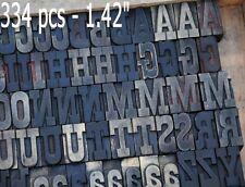 Letterpress Wood Printing Blocks 334pcs 142 Tall Alphabet Type Wooden Type Abc