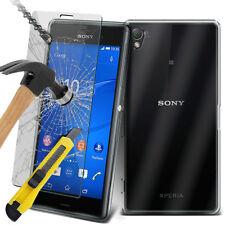 ULTRA DURABLE TRANSPARENT ÉTUI EN GEL TPU Housse & verre pour Sony Xperia Z3